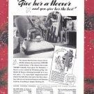 1937 HOOVER VACUUM Vintage Print Ad