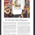 1941 G-E REFRIGERATOR Vintage Print Ad