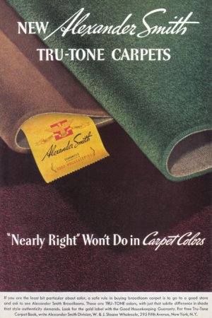 1937 ALEXANDER SMITH CARPETS Vintage Print Ad