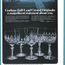1974 GORHAM CRYSTAL Vintage Print Ad