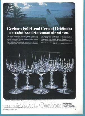 1974 GORHAM CRYSTAL Vintage Print Ad