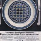 1974 ROYAL DOULTON Stoneware Vintage Print Ad