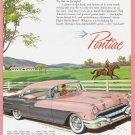 1956 PONTIAC Auto Vintage Print Ad