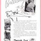 1935 FRENCH LINE Brittany Cruise Vintage Print Ad