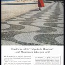 1956 Moore McCormack Cruise Line Vintage Print Ad