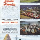 1948 Moore McCormack Cruise Line Vintage Print Ad