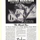 1936 PARKER PENS Vintage Print Ad