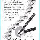 1949 Esterbrook Pens Vintage Print Ad