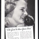 1937 BELL Telephone Vintage Print Ad