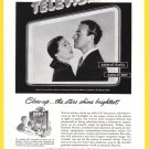 1948 G-E TV Loretta Young & David Niven Vintage Ad