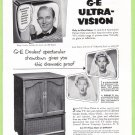 1952 G-E TV Bing Crosby Vintage Print Ad