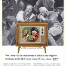 1965 RCA TV Bonanza Lorne Green Vintage Print Ad