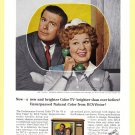 "1964 RCA TV ""Hazel"" Actors Vintage Print Ad"