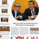 1965 RCA TV Johnny Carson Vintage Print Ad