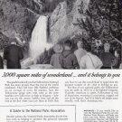 1955 SINCLAIR OIL Nat'l. Parks Vintage Print Ad