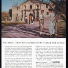 1956 SINCLAIR OIL The Alamo Vintage Print Ad