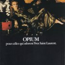 1981 OPIUM Perfume Jerry Hall Vintage Print Ad