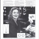Lauren Bacall 1981 Fortunoff Jewelry Vintage Print Ad