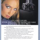 1984 HASSELBLAD Camera Jerry Hall Vintage Print Ad