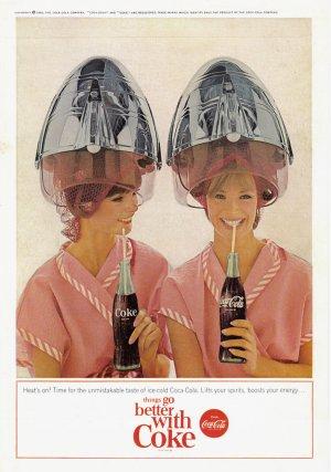1965 COCA-COLA Vintage Print Ad