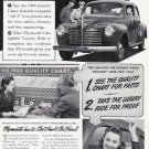 1940 PLYMOUTH Auto Vintage Print Advertisement
