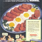 1939 SPAM Hormel Ham Vintage Print Advertisement
