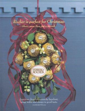 FERRERO Rocher 2001 Candy Print Advertisement