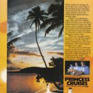 1984 PRINCESS Cruise Line Print Advertisement
