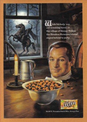 M&M's Candy 2006 Halloween Print Advertisement
