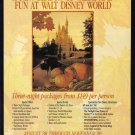 Walt Disney World 1994 Travel Print Advertisement