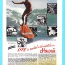 1938 HAWAII Travel Vintage Print Advertisement