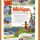 1950's MICHIGAN Travel Vintage Print Advertisement