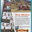 1950's New Mexico Travel Vintage Print Advertisement