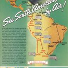 1940 PAN AM Airlines Vintage Print Advertisement