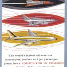 1960 CONVAIR Aircraft Vintage Print Advertisement