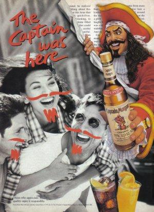 CAPTAIN MORGAN RUM 1995 Magazine Print Advertisement