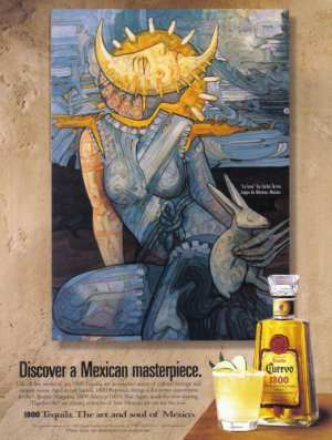 CUERVO TEQUILA 1999 Illustrated Print Advertisement