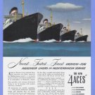 1948 AMERICAN Export Cruise Vintage Print Advertisement