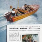 1957 EVINRUDE MOTORBOAT Vintage Print Advertisement