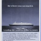 1985 Halley's Comet Sun Line Cruise Print Advertisement