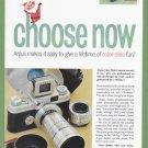1957 ARGUS Camera 2-Pg Vintage Print Advertisement