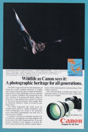 1984 CANON Camera Vintage Print Advertisement
