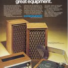 1975 PIONEER Stereo Magazine Print Advertisement