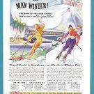 1934 GREYHOUND Bus Vintage Print Advertisement