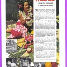 1940 HAWAII Travel Vintage Print Advertisement