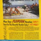 1948 FLORIDA Travel Vintage Print Advertisement
