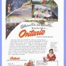 1951 CANADA Ontario Travel Vintage Print Ad