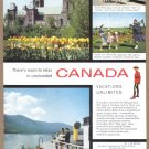 1955 CANADA Travel Vintage Print Advertisement