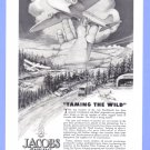 1943 Jacobs Aircraft Illustrated Vintage Print Ad