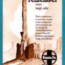 1952 Santa Fe Railroad Vintage Print Advertisement